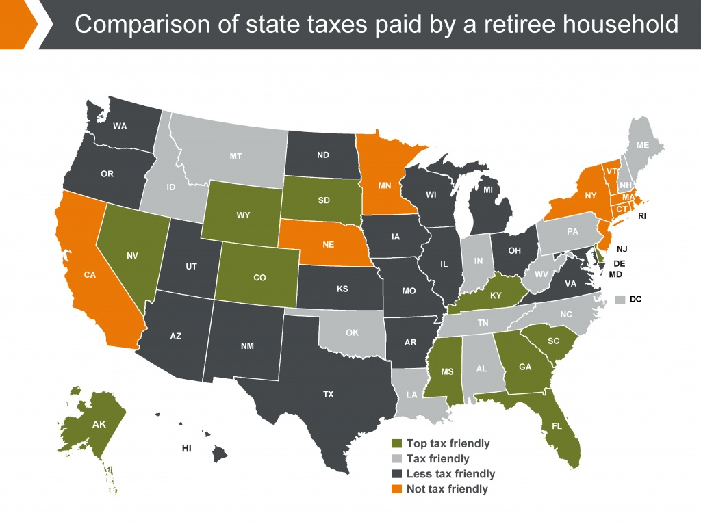 States With The Highest (And Lowest) Taxes For Retirees | Money - Florida Property Tax Map