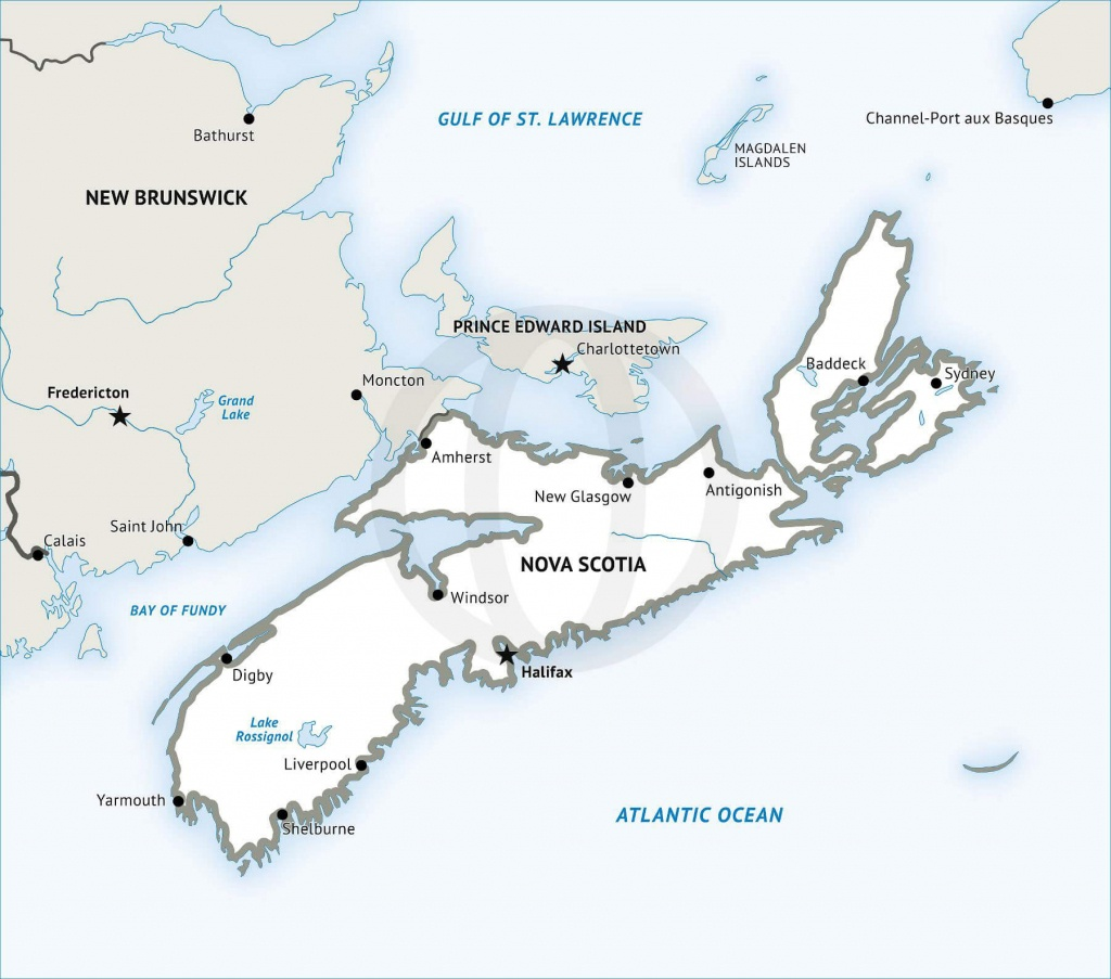 Stock Vector Map Of Nova Scotia | One Stop Map - Printable Map Of Nova Scotia