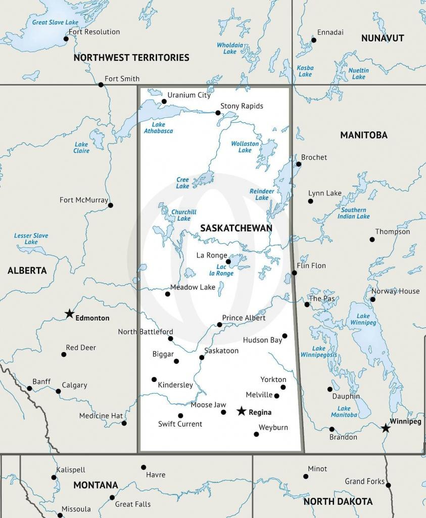Stock Vector Map Of Saskatchewan | One Stop Map - Printable Map Of Saskatchewan