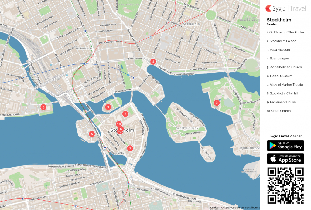Stockholm Printable Tourist Map In 2019 | Free Tourist Maps - Printable Map Of Stockholm