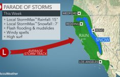 Storm Onslaught To Bombard California With Flooding Rain, Mountains   Weather Heat Map California