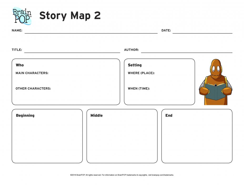 Story Map Graphic Organizer   Brainpop Educators - Printable Character Map
