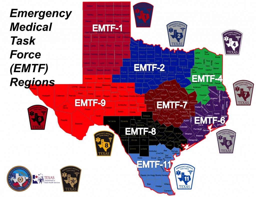 Strac Emtf-8 - Texas Dps Region Map