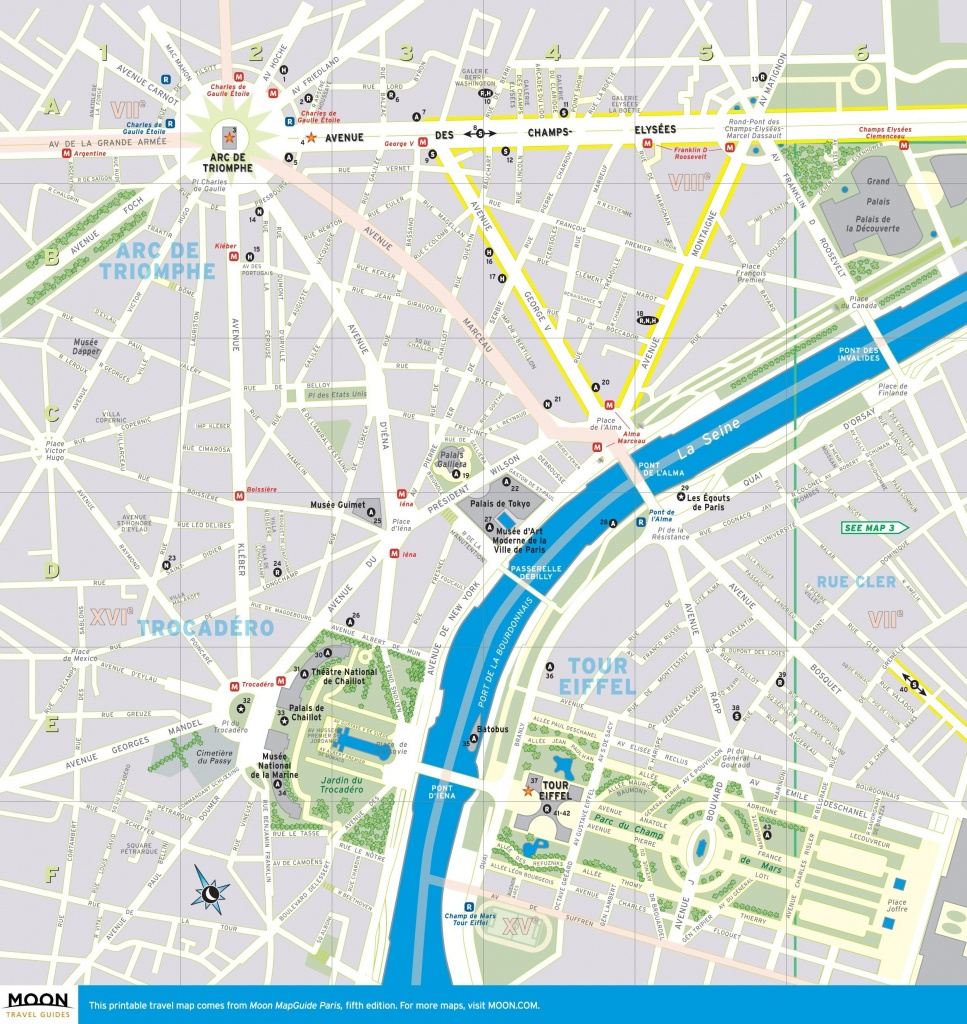 Street Map Of Paris France Printable | World Map - Printable Map Of Paris France