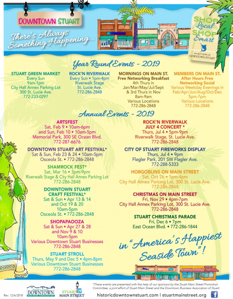 Stuart, Florida's Historic Downtown. Shopping, Restaurants - Street Map Of Stuart Florida