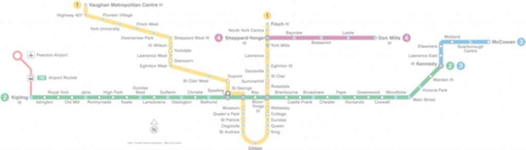 Subway Map - Toronto Subway Map Printable