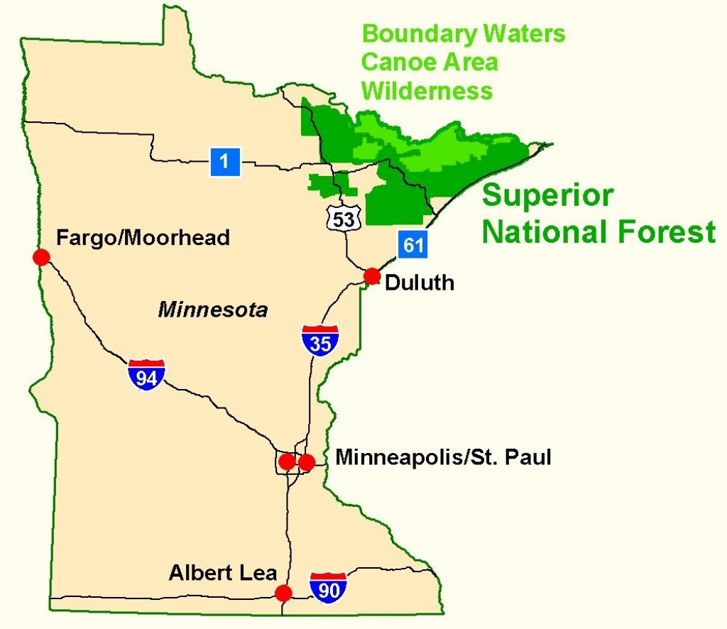 Superior National Forest - Maps & Publications - Printable Maps By Waterproofpaper Com