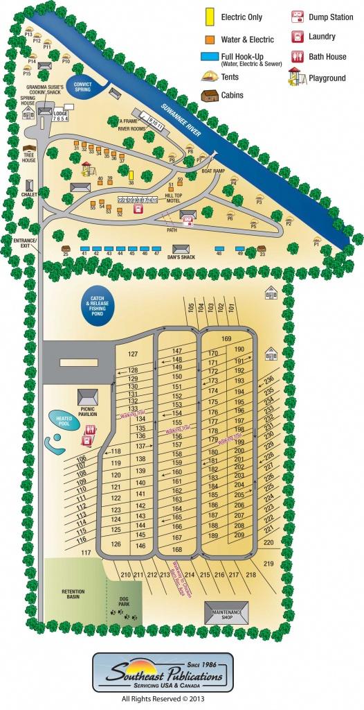 Suwannee River Rendezvous Resort - Florida Tent Camping Map