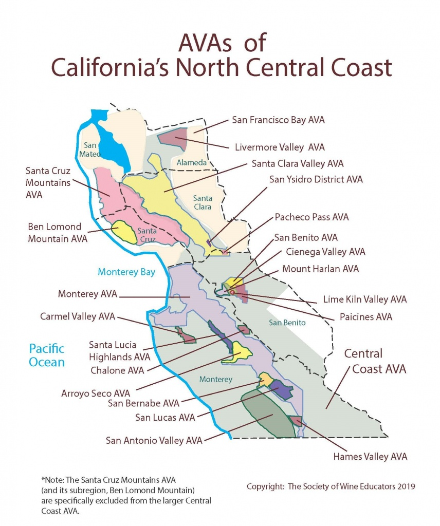 Swe Map 2019: California—Northern Central Coast – Wine, Wit, And Wisdom - Map Of Northern California Wineries