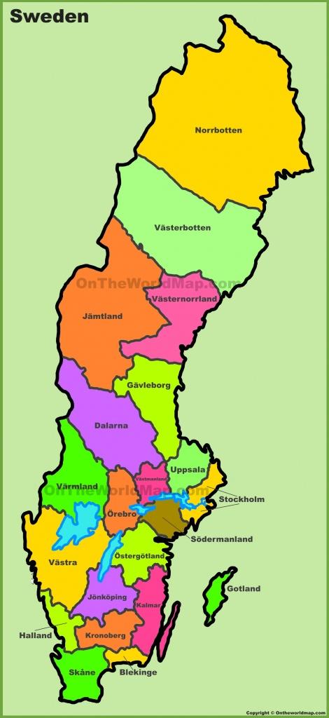Sweden Maps | Maps Of Sweden - Printable Map Of Sweden