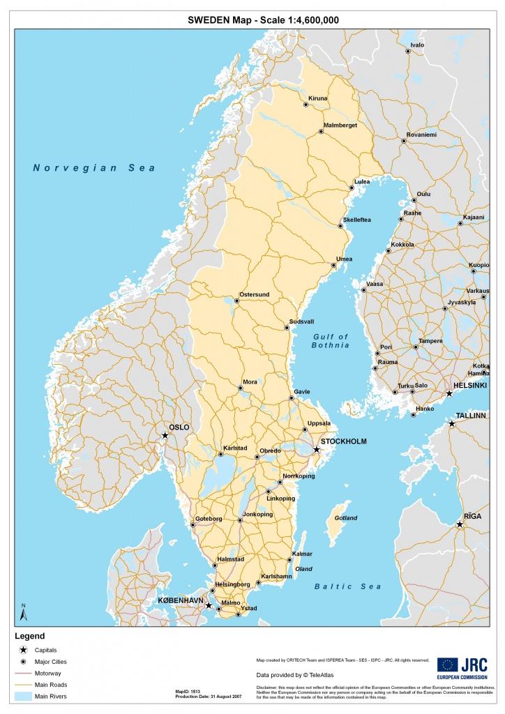 Sweden Maps | Printable Maps Of Sweden For Download - Printable Map Of Sweden