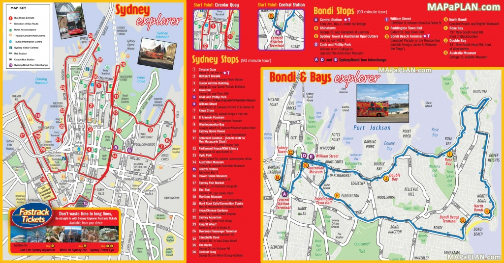 Sydney Maps - Top Tourist Attractions - Free, Printable City Street Map - Printable Travel Maps