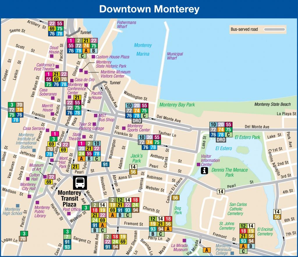 System Maps | Monterey-Salinas Transit - Monterey Bay California Map