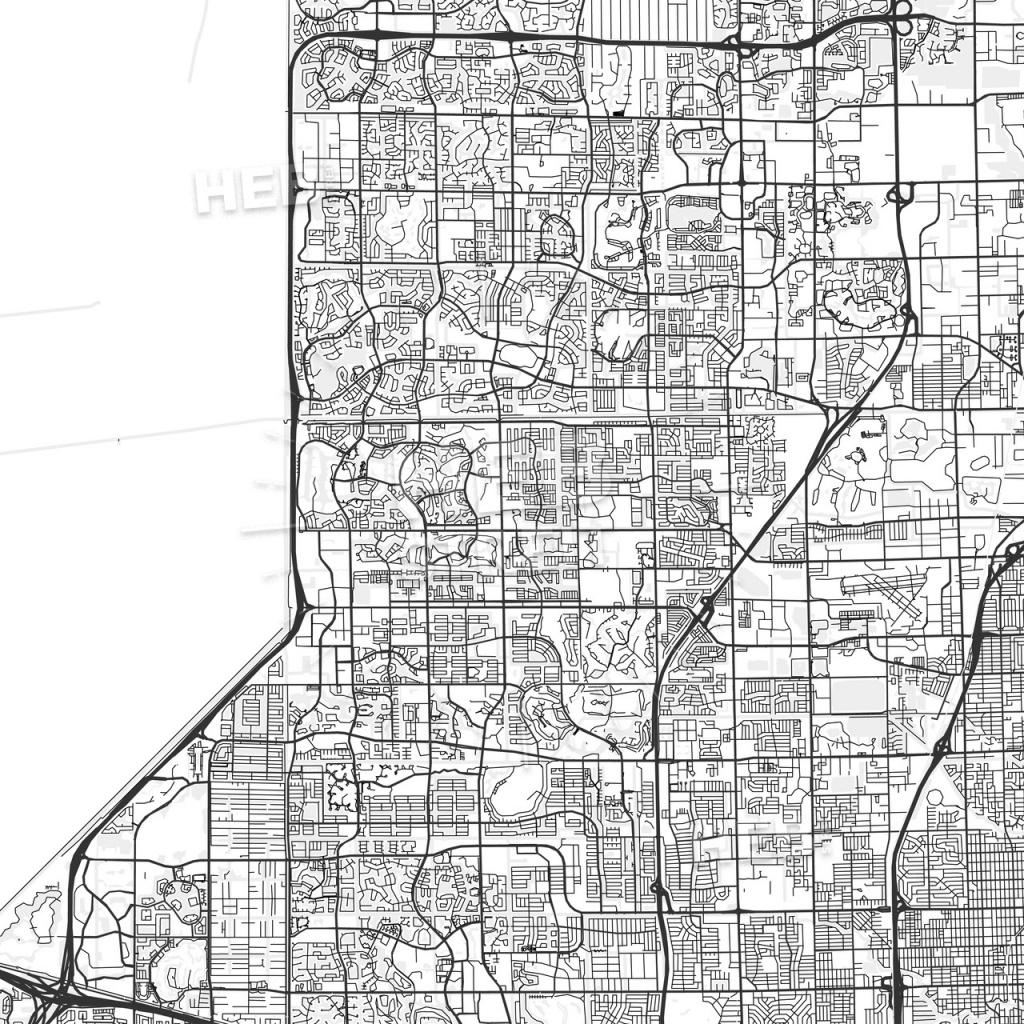 Tamarac, Florida - Area Map - Light | Hebstreits Sketches - Tamarac Florida Map