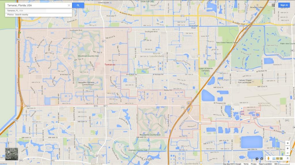 Tamarac Florida Map - Tamarac Florida Map