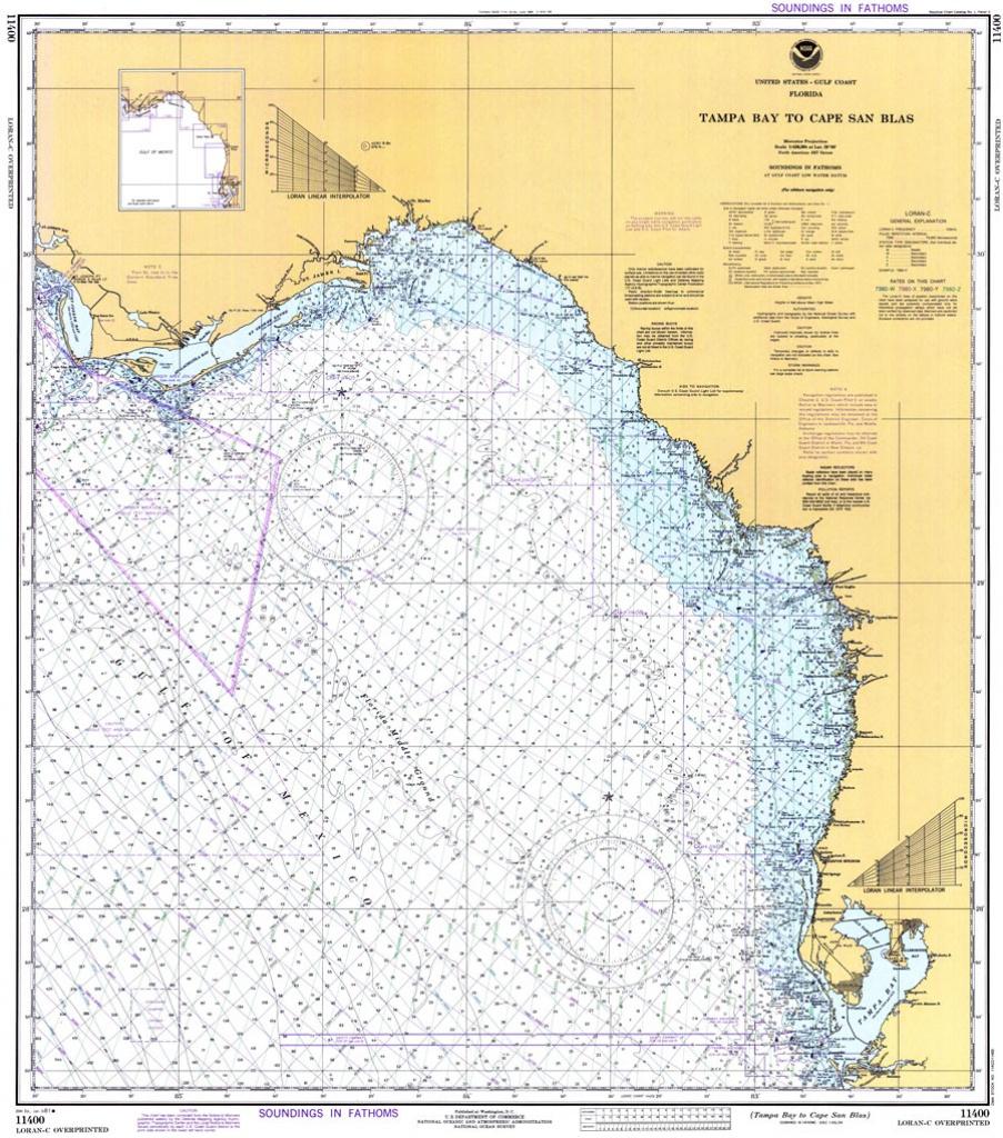 Tampa Bay To Cape San Blas, 1981 - Cape San Blas Florida Map
