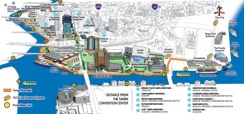 Tampa Convention Center | Visit Tampa Bay - Map Of Hotels In Tampa Florida