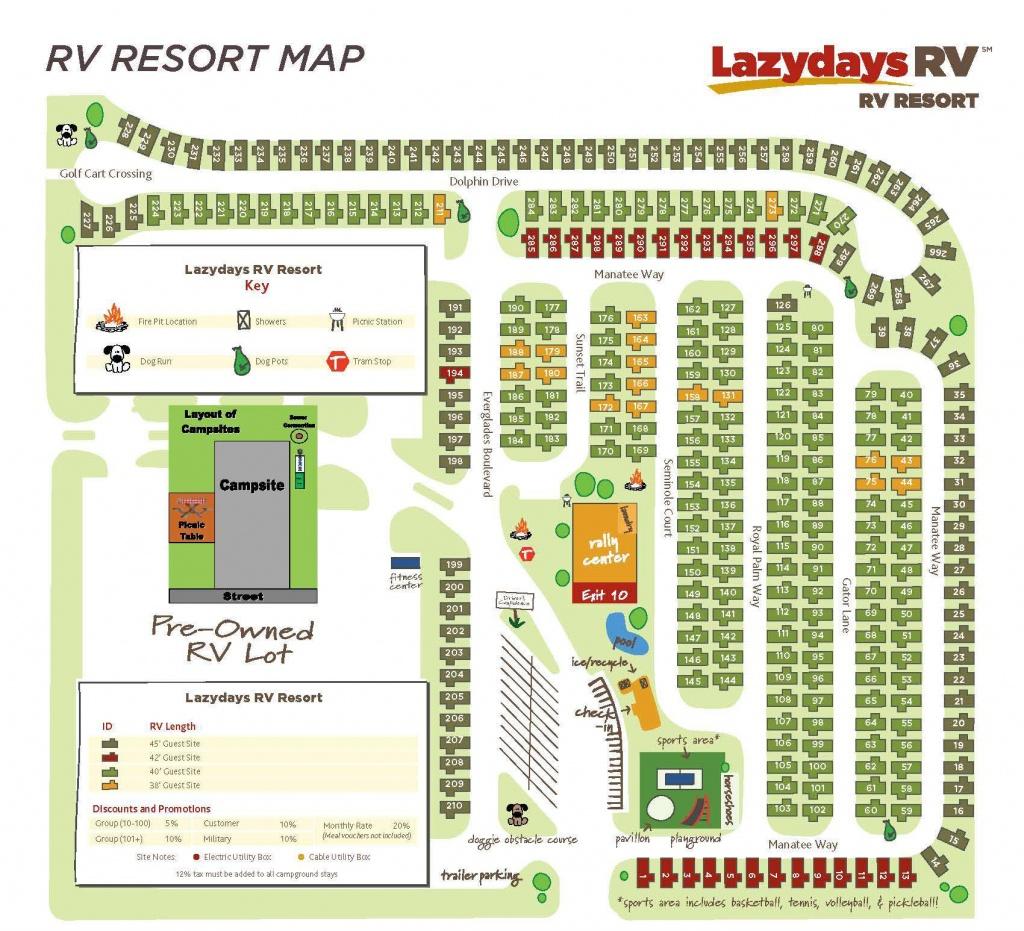 Tampa Rv Resort Map | Lazydays Rv In Tampa, Florida - Florida Rv Campgrounds Map