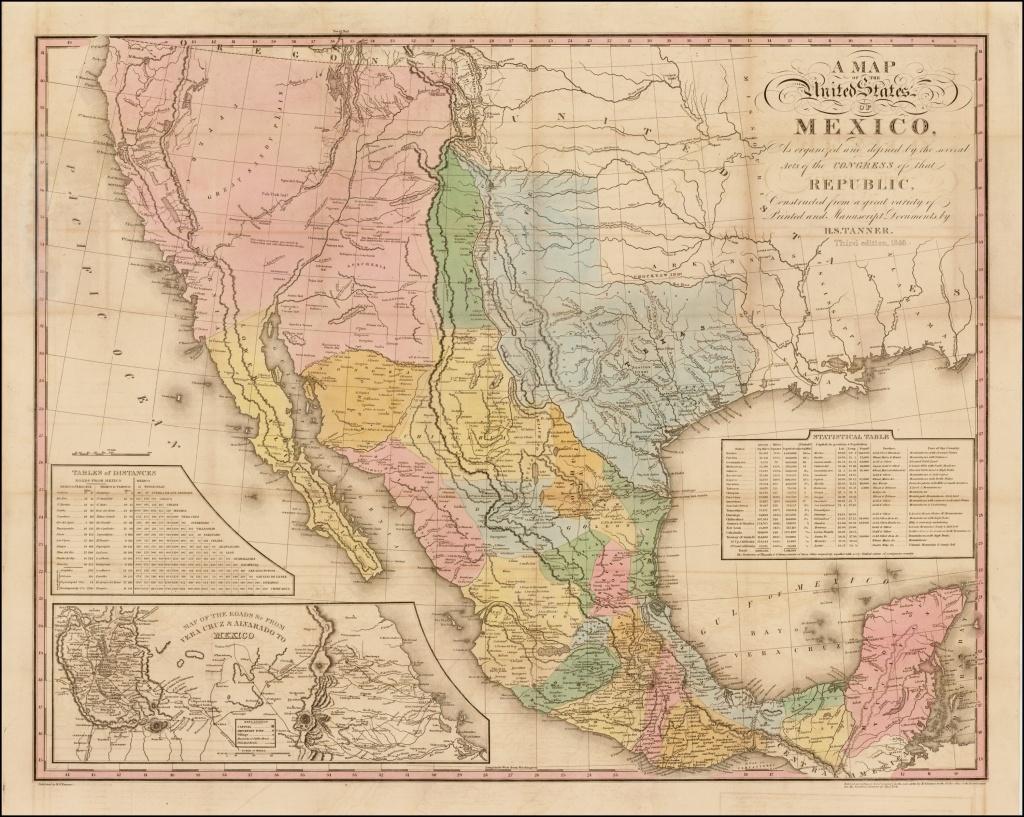 Tanner's Map Of Mexico - Rare & Antique Maps - Antique Texas Maps For Sale