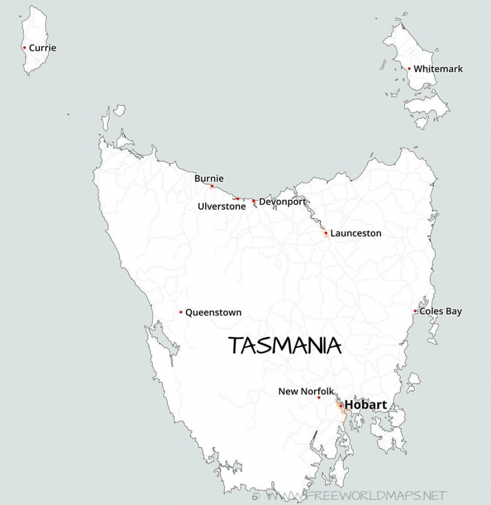Tasmania Maps - Printable Map Of Tasmania