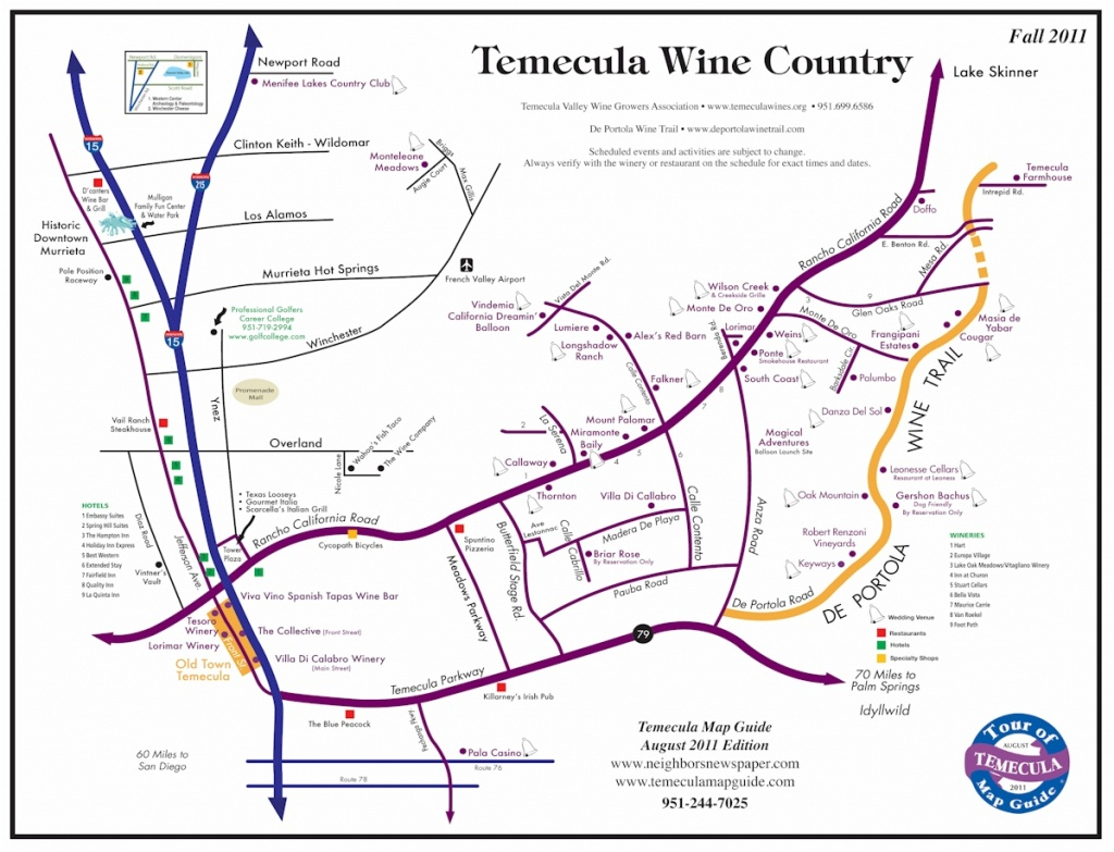 Temecula Wine Map - Temecula Winery Map Printable