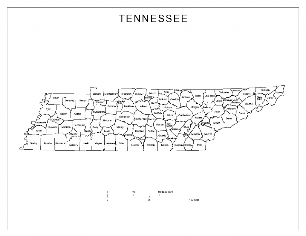 Tennessee Labeled Map - Printable Map Of Tennessee Counties