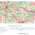 Tennessee Printable Map   Printable Map Of Tennessee Counties And Cities