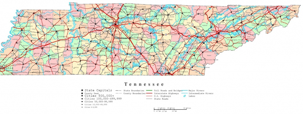 Tennessee Road Atlas | Tennessee Printable Map | Traveling - Printable Map Of Tennessee