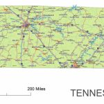 Tennessee State Route Network Map. Tennessee Highways Map. Cities Of   Printable Map Of Tennessee Counties And Cities