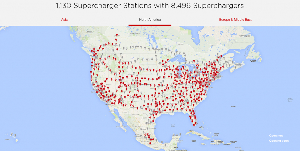 Tesla Supercharger Network 2018 — Plans Call For Rapid Expansion - Electric Car Charging Stations Map Florida