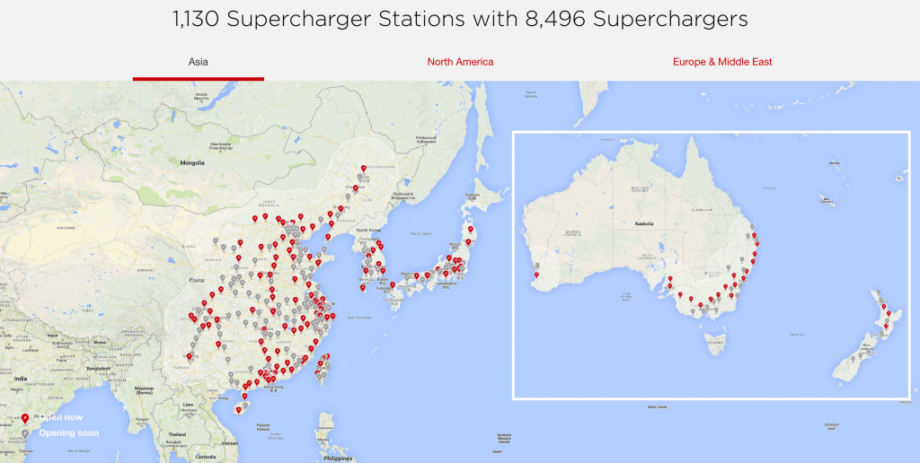 Tesla Supercharger Network 2018 — Plans Call For Rapid Expansion - Tesla Charging Stations Map California