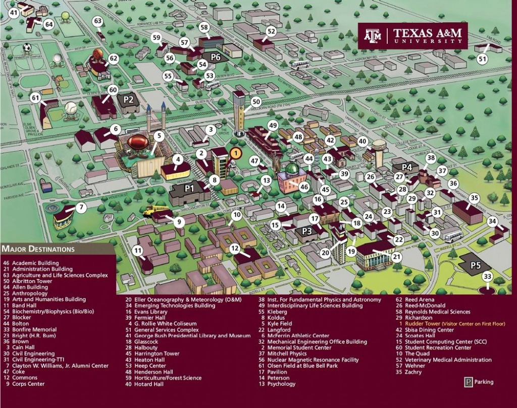 Texas A&m University Campus Map   Texas A&m   Texas A&m University - Texas A&m Map