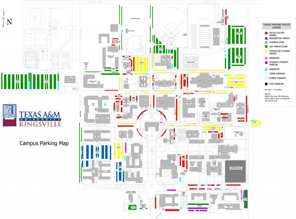 Texas A&m University Kingsville - Texas A&m Parking Map
