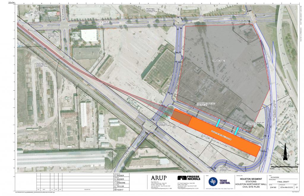 Texas Bullet Train Developers Pick Northwest Mall For Houston - Texas High Speed Rail Map