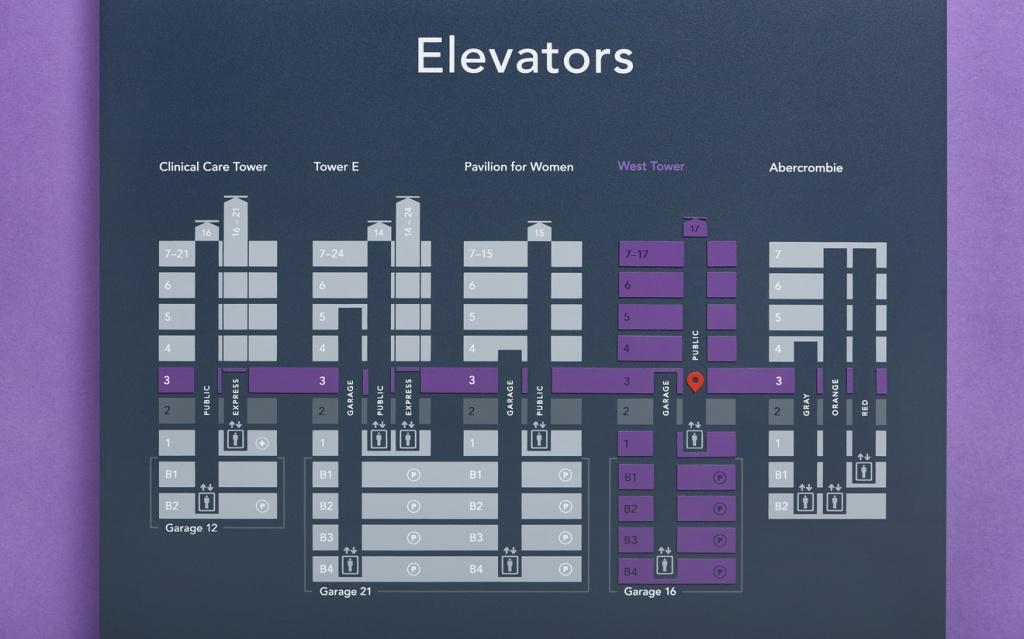 Texas Children's Hospital Wayfinding And Graphics - Formation - Texas Children's Hospital Map