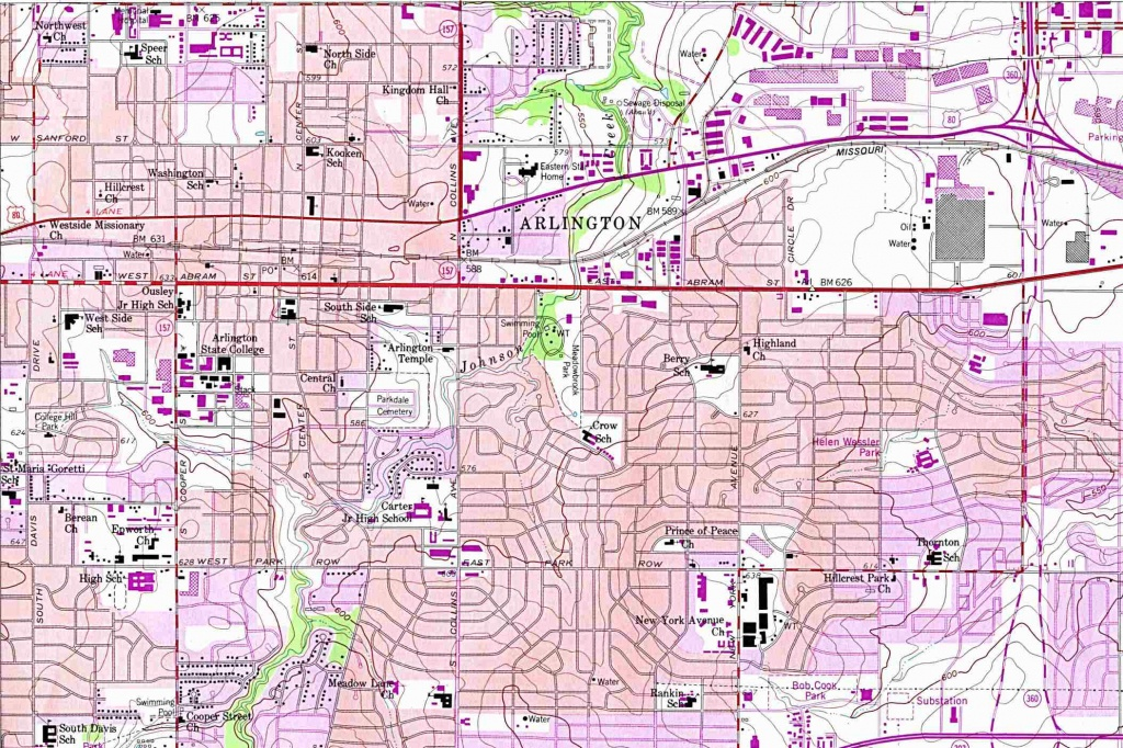 Texas City Maps - Perry-Castañeda Map Collection - Ut Library Online - Google Maps Dallas Texas