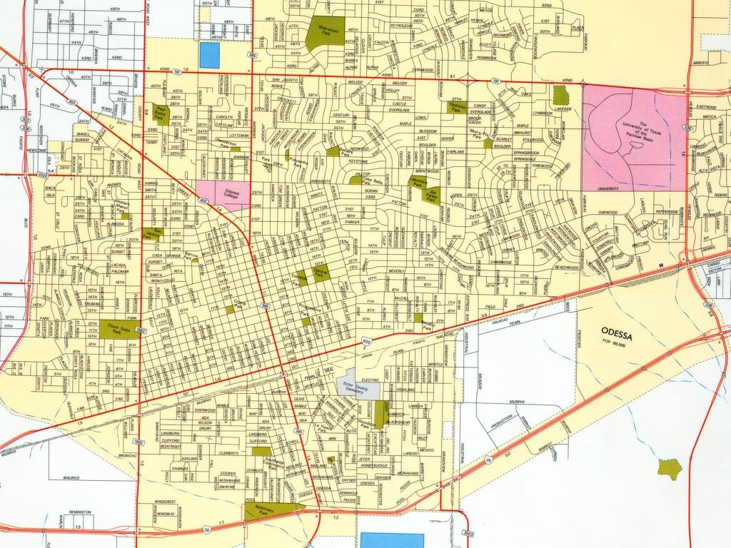 Texas City Maps - Perry-Castañeda Map Collection - Ut Library Online - Map Of Midland Texas And Surrounding Areas