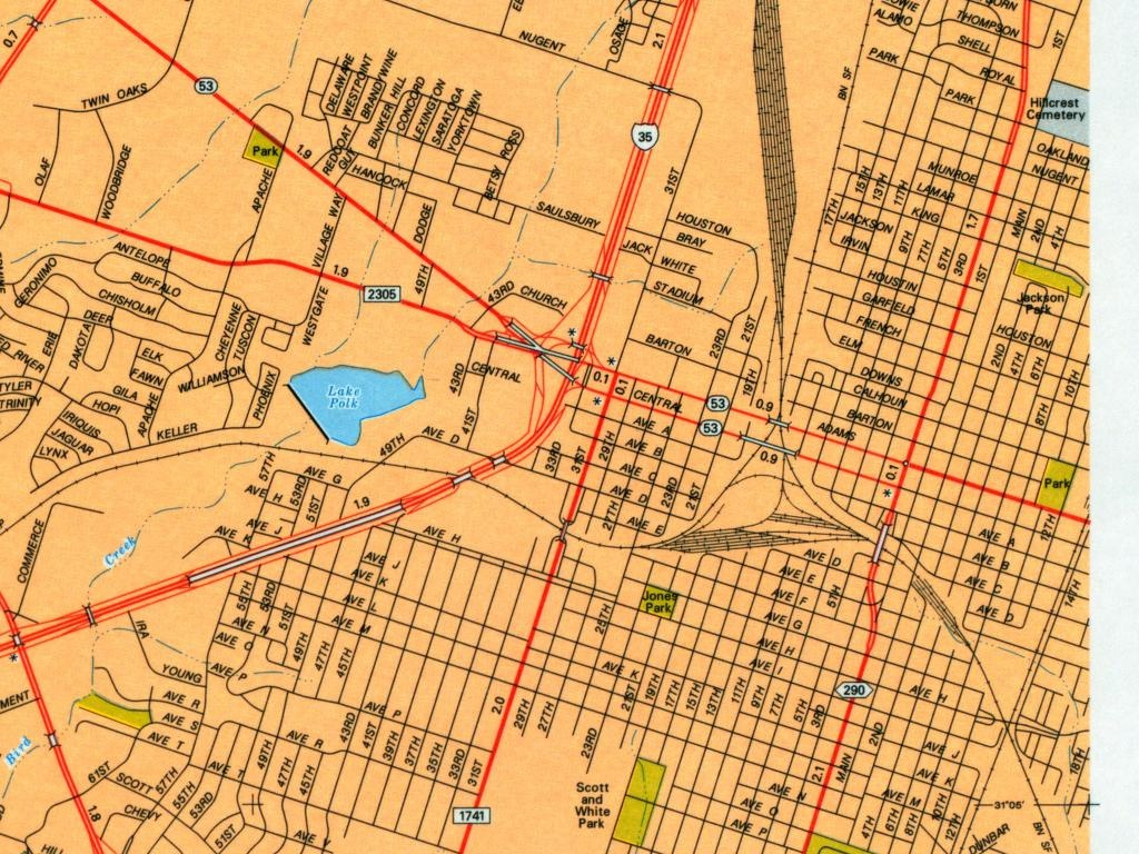 Texas City Maps - Perry-Castañeda Map Collection - Ut Library Online - Round Rock Texas Map