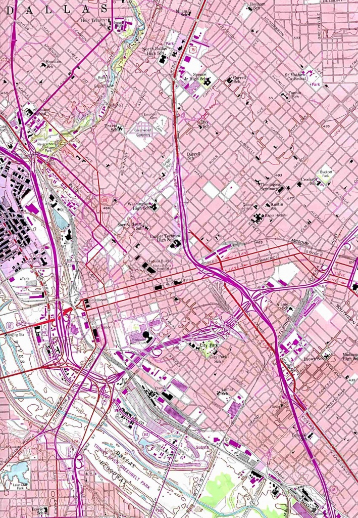 Texas City Maps - Perry-Castañeda Map Collection - Ut Library Online - Street Map Of Dallas Texas