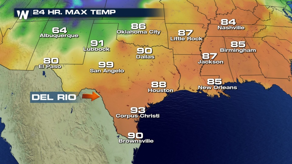 Texas City Reaches Hottest April Temperature - Weathernation - Texas Weather Map Temps