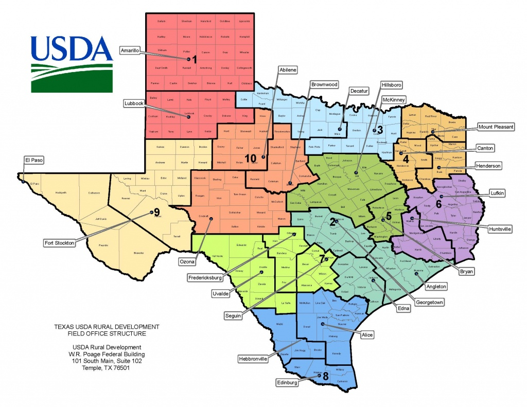 Texas Contacts | Usda Rural Development - Usda Map Florida