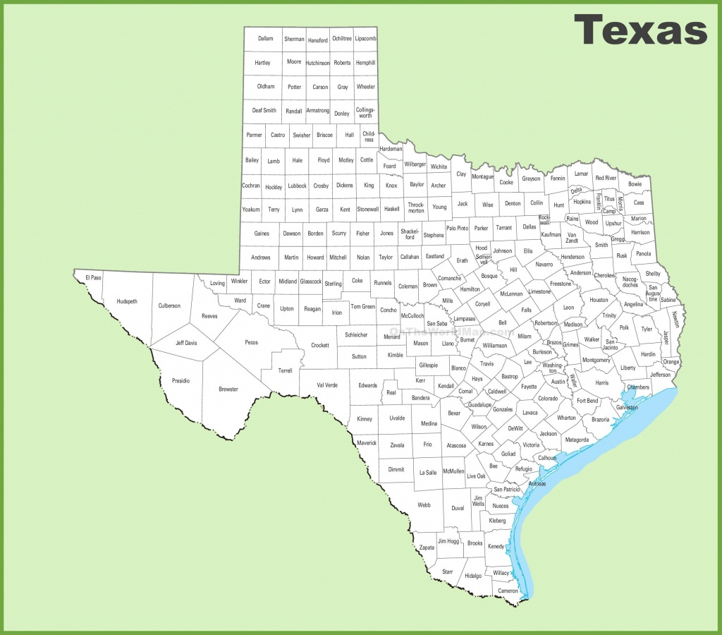 Texas County Map - Google Maps Texas Counties