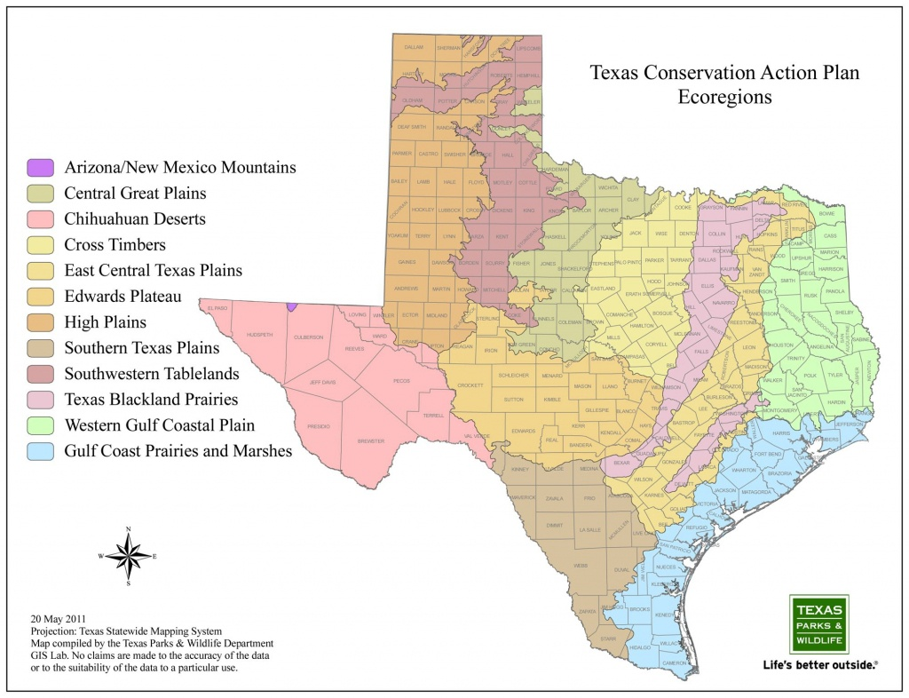 Texas Ecoregions Map From Texas Parks And Wildlife | Maps | Map - Texas Parks And Wildlife Map