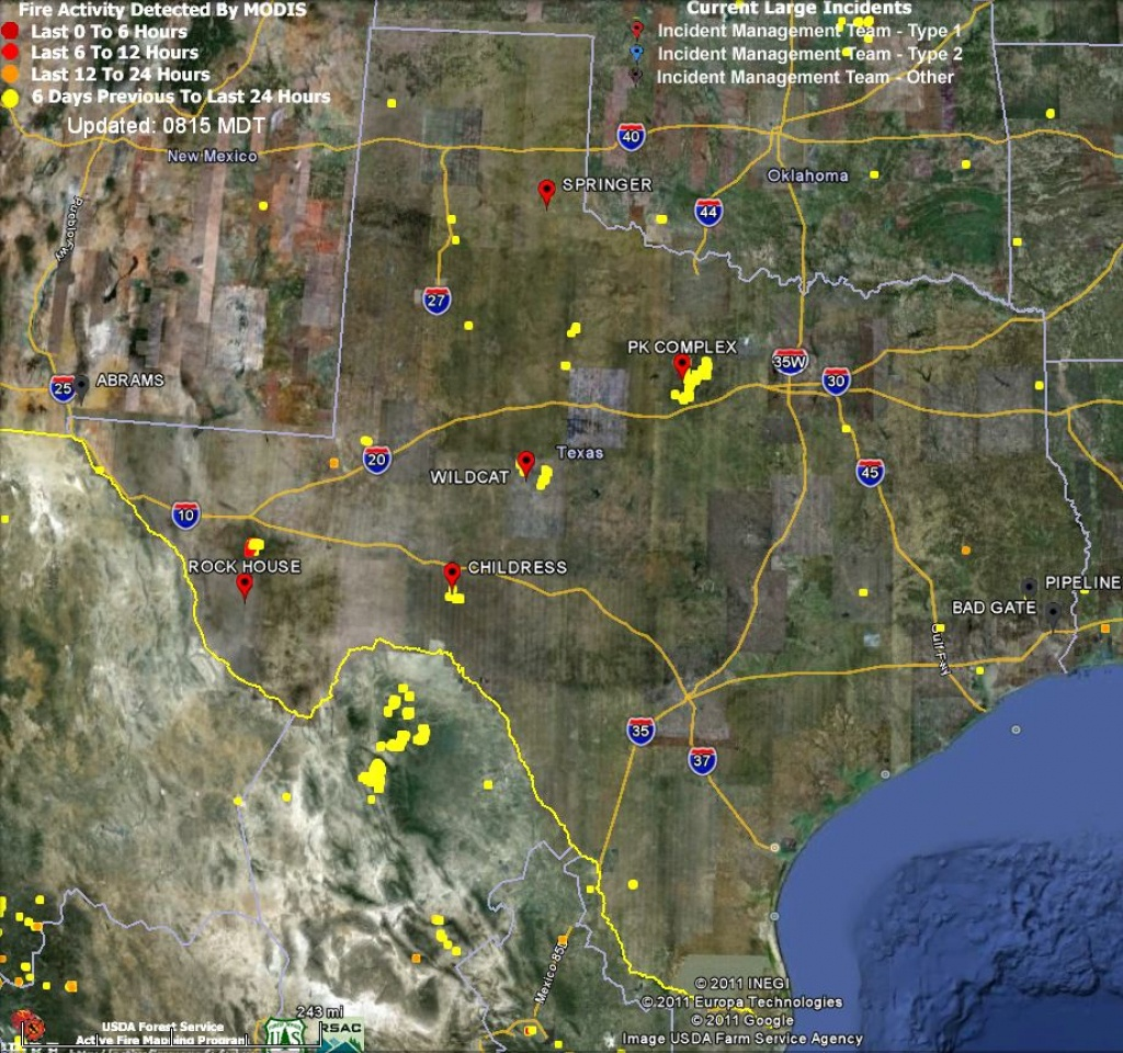Texas Fire Map 4-24-2011 - Wildfire Today - Texas Fire Map