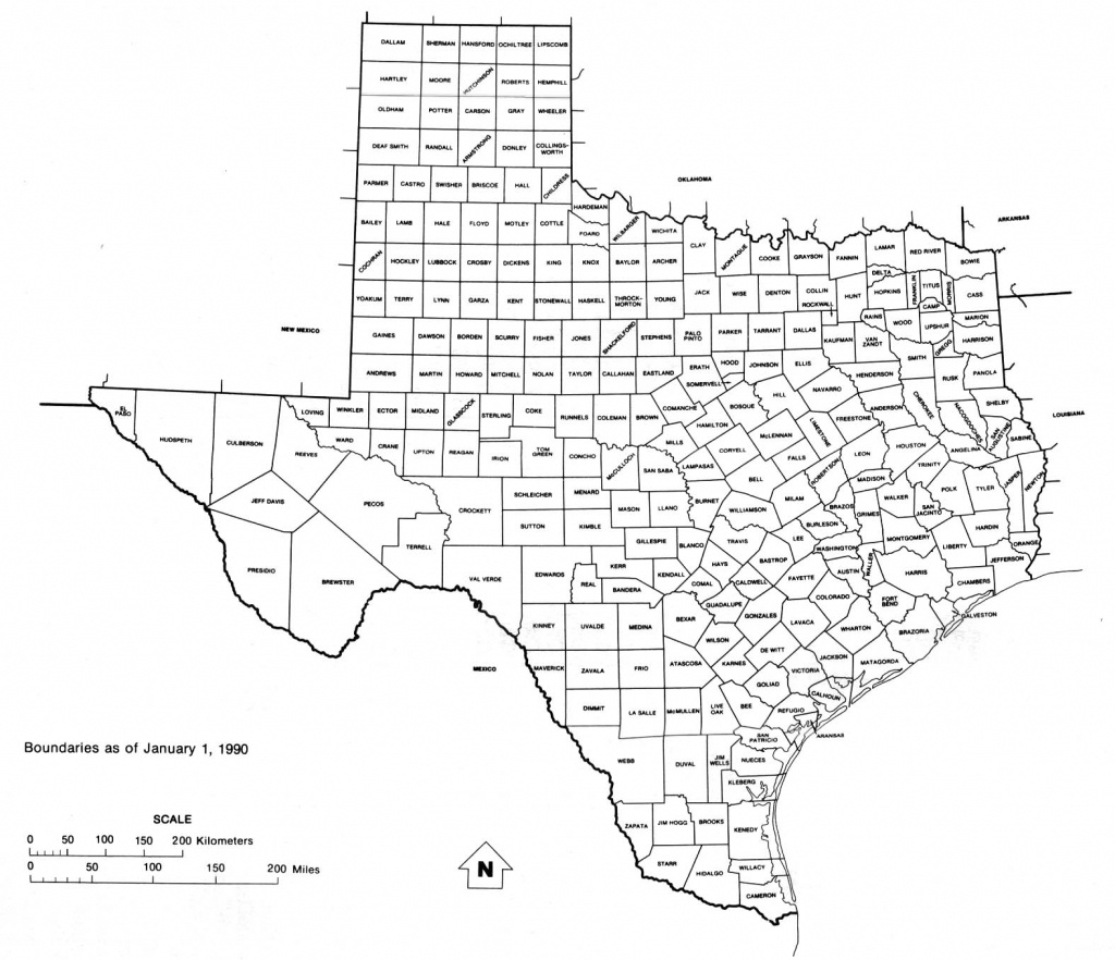Texas Free Map - Free Printable Map Of Texas