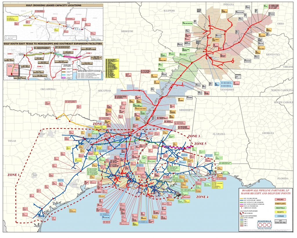 Texas Gas - Tg Boardwalk System Map - Texas Gas Pipeline Map