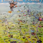 Texas Hill Country Map Poster   Texas Hill Country   Texas Hill Country Wineries Map