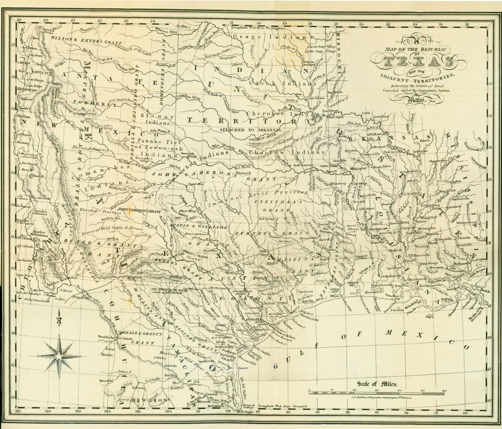 Texas Historical Maps - Perry-Castañeda Map Collection - Ut Library - Antique Texas Map