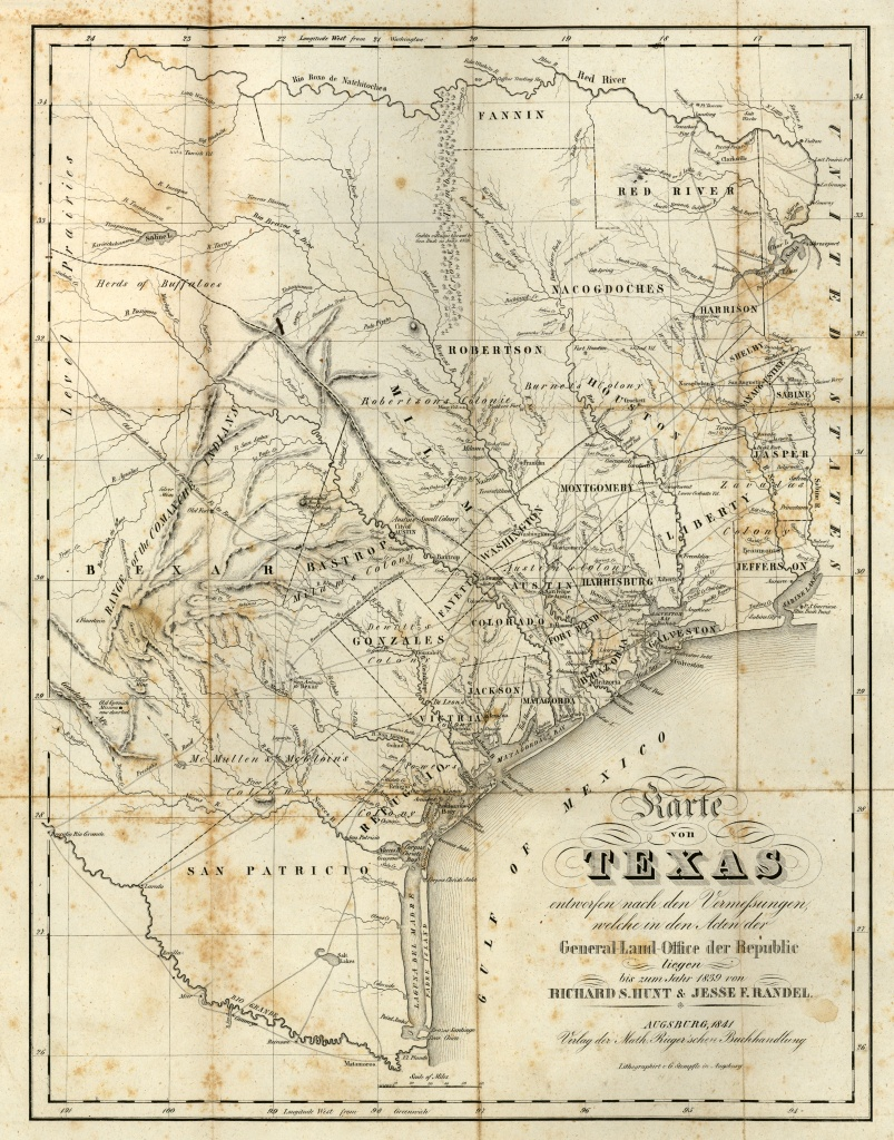Texas Historical Maps - Perry-Castañeda Map Collection - Ut Library - Giant Texas Wall Map