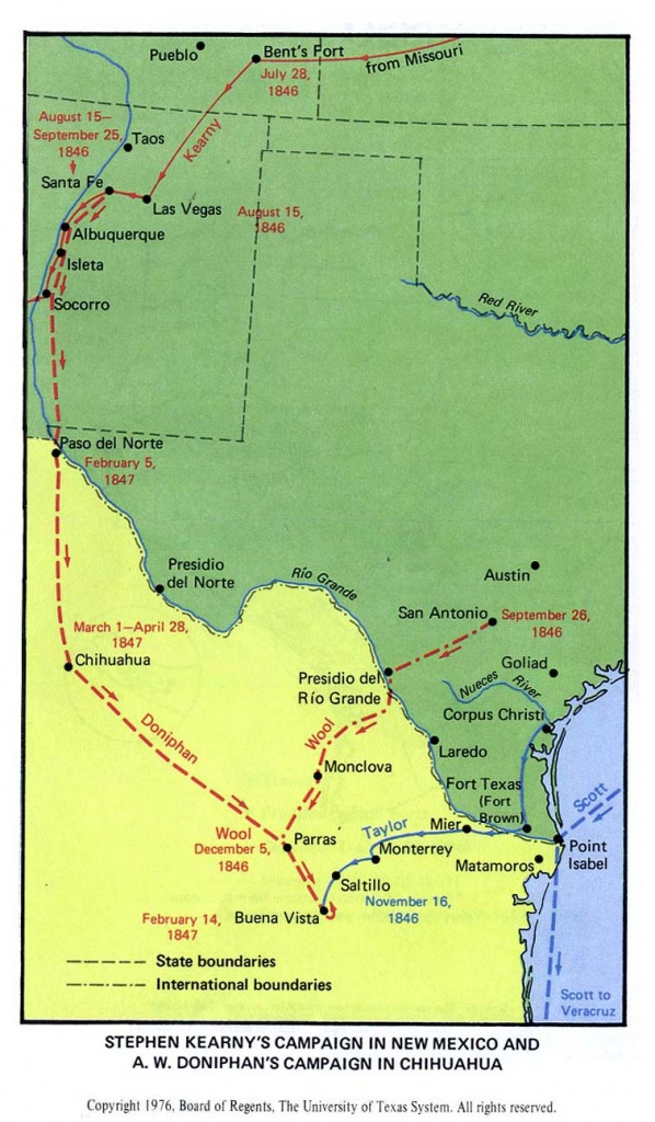 Texas Historical Maps - Perry-Castañeda Map Collection - Ut Library - Map Of Texas Showing Santa Fe